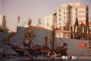 Decoração Barco dos Piratas Feira Popular